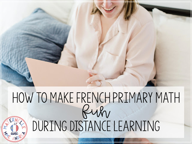 Struggling with making math fun in maternelle during distance learning? Check out this blog post to learn how to implement fun, hands-on daily math challenges in your Google classroom!