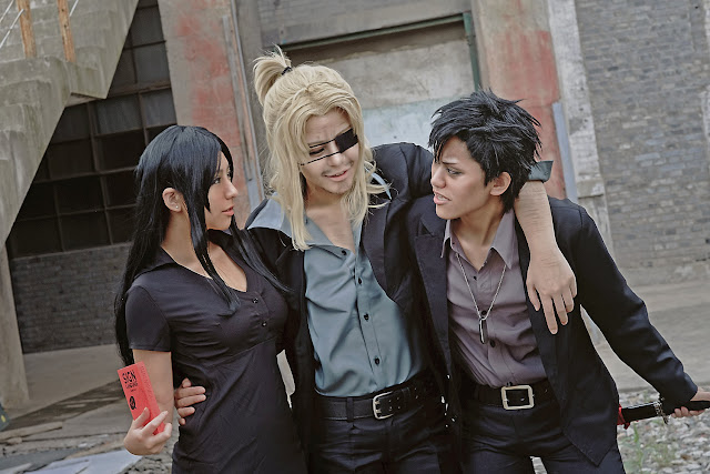 Alex Benedetto, Worick Arcangelo i Nicolas Brown cosplay z anime Lato 2015