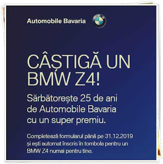 concurs 25 de ani Automobile Bavaria castiga super premiu o masina BMW Z4