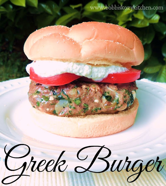 Greek Burgers from www.bobbiskozykitchen.com