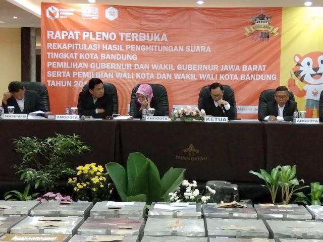 Inilah Jumlah Suara Pilwalkot Bandung 2018 Hasil Rekapitulasi KPU