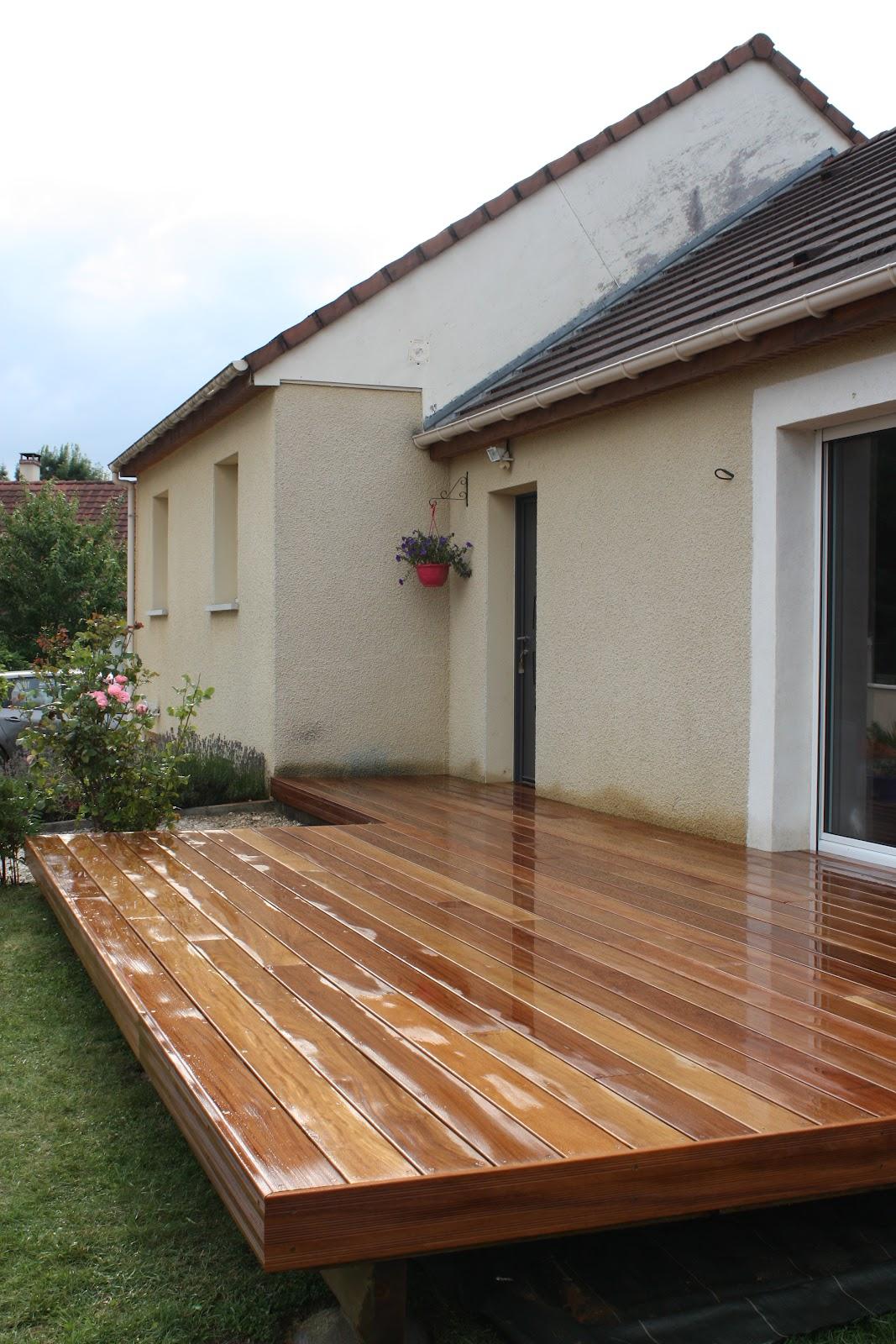 Terrasse Surélevée En Acier jardins secrets: terrasses en bois exotique