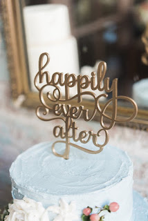 Elegant laser cut wedding cake toppers