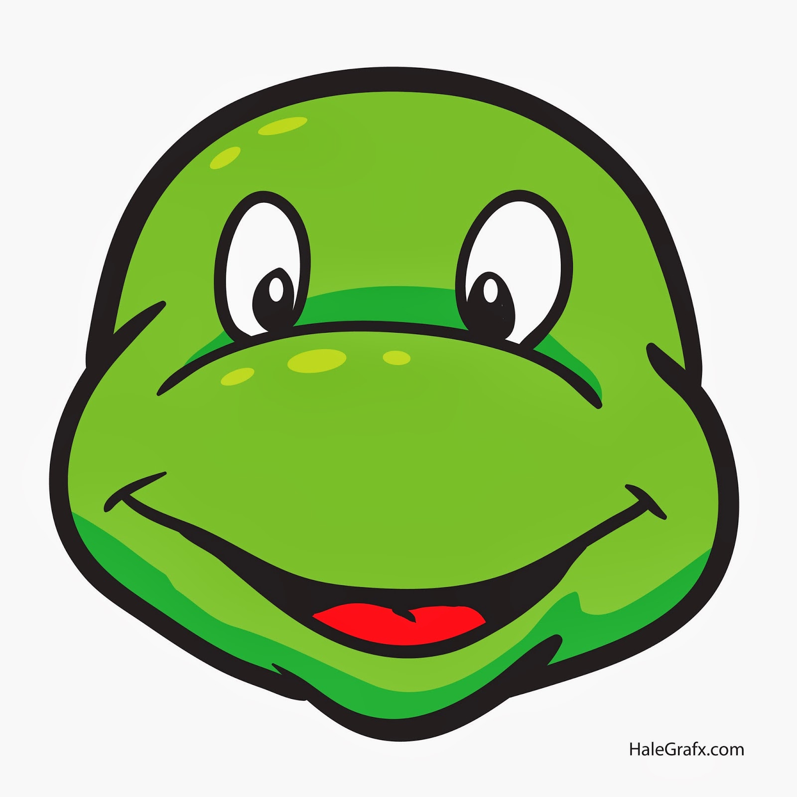Free coloring pages of ninja turtle face for Tortoise mask template