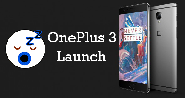 Oneplus 3 Launch india