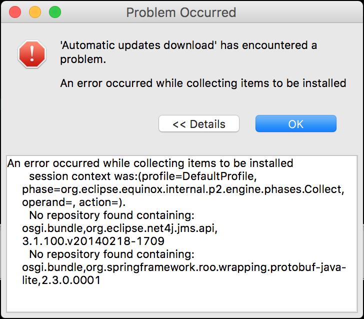problem update 1709