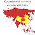 Countries with ongoing territorial disputes with China (Map)