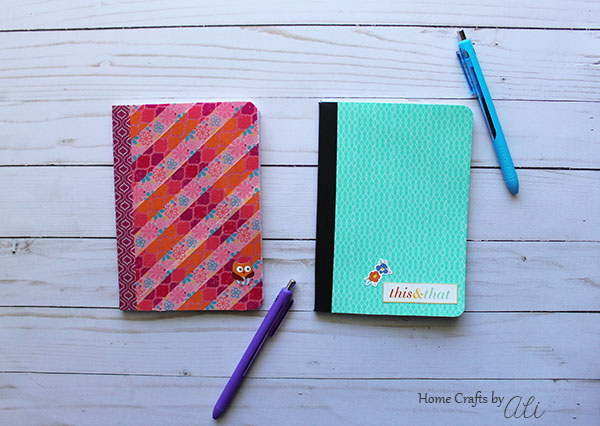 easy to make washi tape decorated notebooks