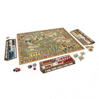 Componentes de Hansa Teutonica  big box  the board game