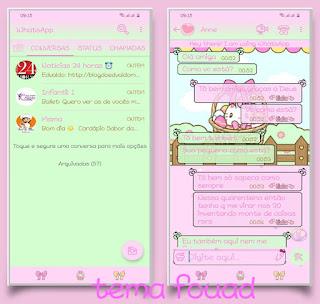 Kitty Cute Theme For YOWhatsApp & Fouad WhatsApp By Michele