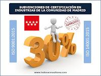 Ayudas para certificación ISO 9001 e ISO 14001