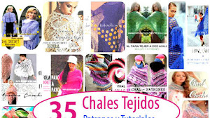 35 Chales para tejer / Patrones y Tutoriales