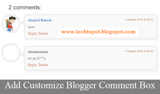 How to add Customize Blogger Comment Box with Pictures