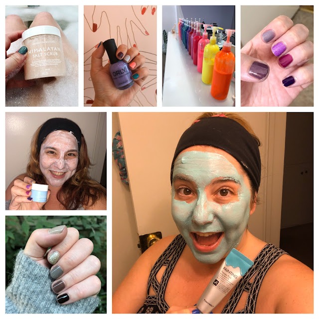 2019, New Year's Eve, New Year's wrapup post, 2019 wrapup, Jamie Allison Sanders, looking back on 2019, Brooklyn Botany Himalayan Salt Body Scrub, ORLY Color Labs, ombre manicure, ombre nails, nail polish, face mask, skincare, Essie, I Dew Care face mask, TONMOLY painting face mask