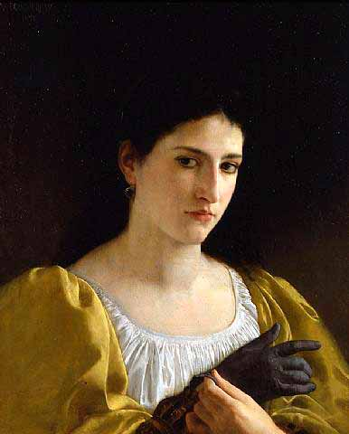 Адольф Вильям Бугро - Дама с перчаткой (1870)