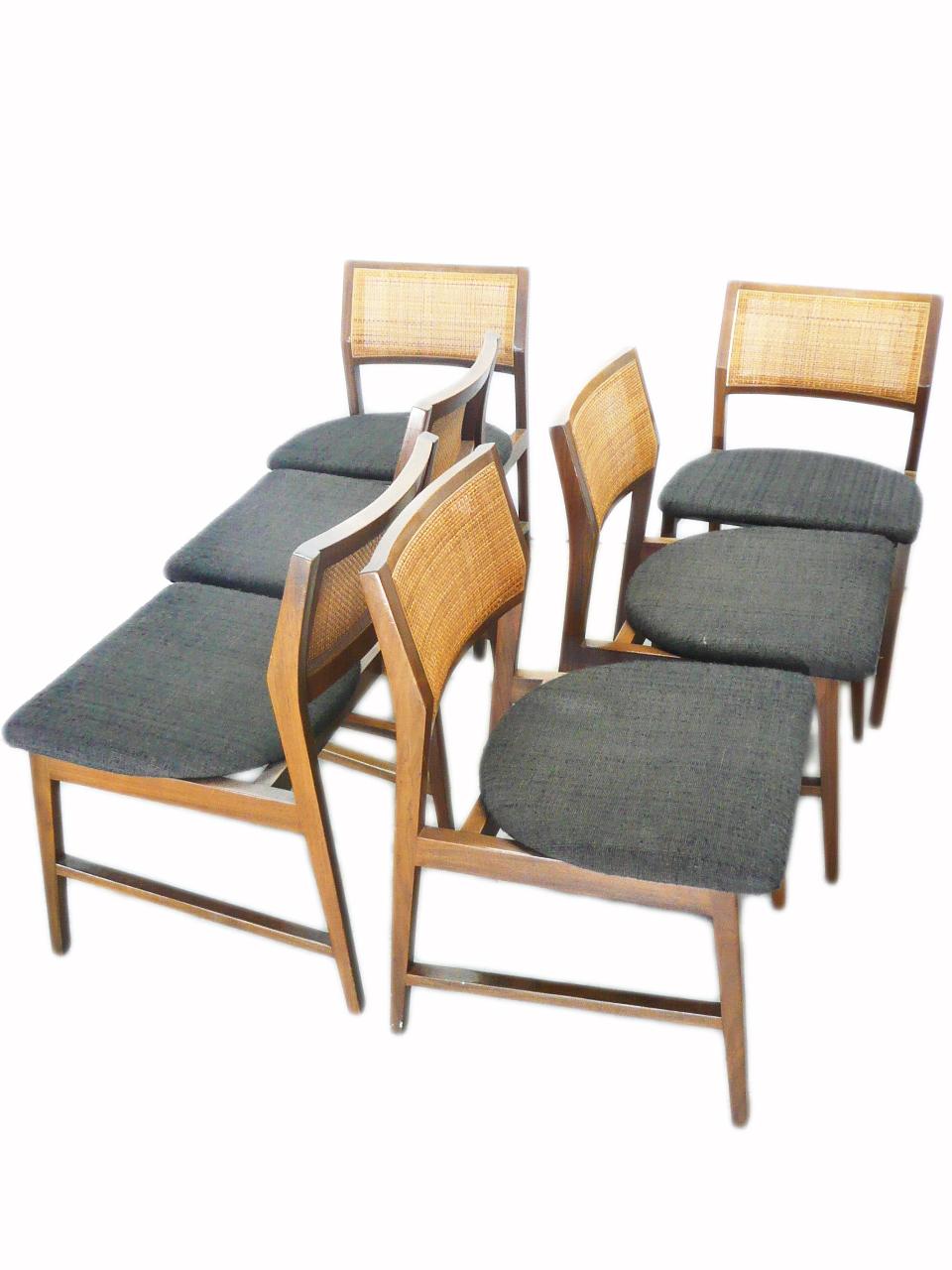 mid century modern cane barrel chairs straight back chair with arms modern, century, danish, vintage furniture shop, used, restoration, repair - denver ...