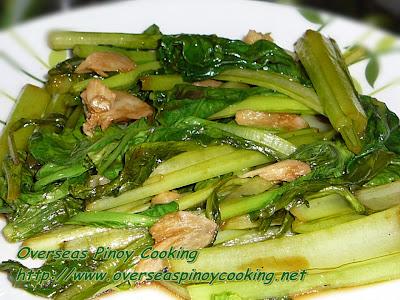 Adobong Choy Sum