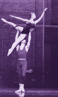 Ballerina Therese de la Fontaine in her Paquita lift with Richard when she was 12 years old.