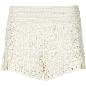 scallop crochet shorts from Topshop