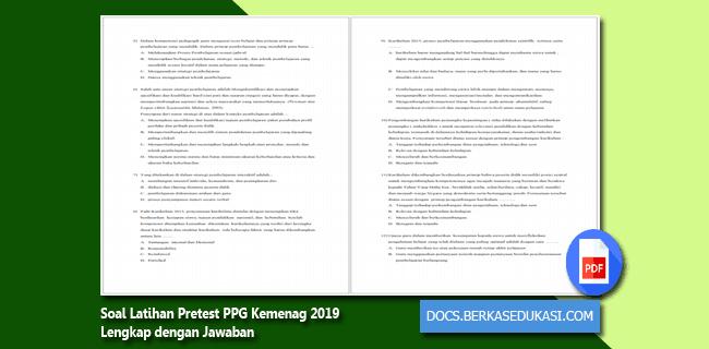 Soal Latihan Pretest PPG Kemenag 2019 Lengkap dengan Jawaban