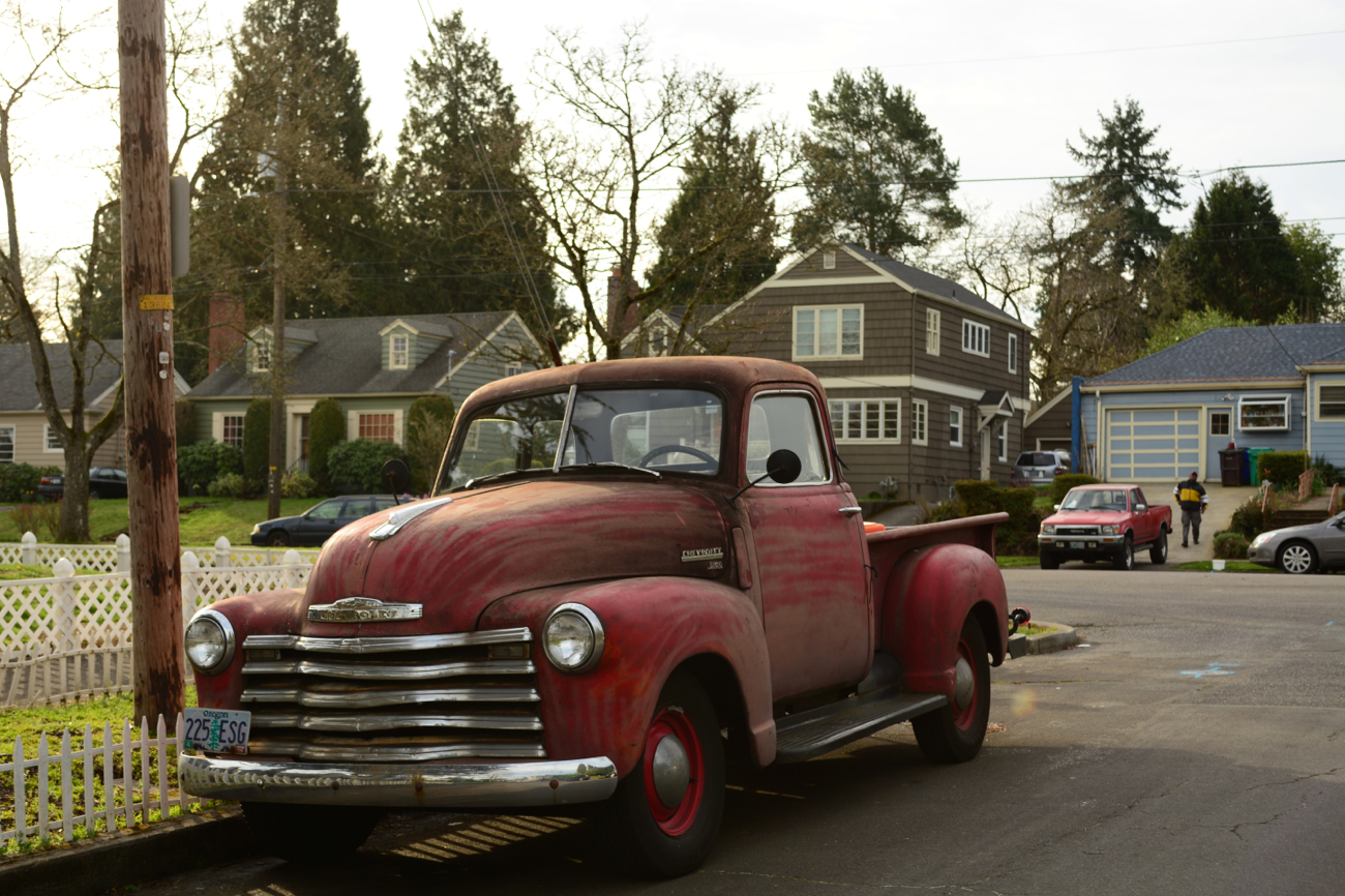 OLD PARKED CARS.: Sunday Bonus: 1949 Chevrolet 3100, Revisited.