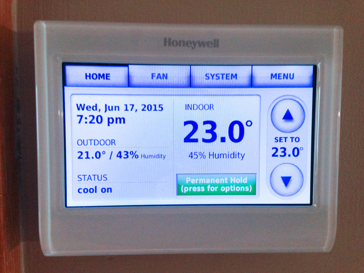 Glens Home Automation Low Speed Ac Fan Dehumidification Honeywell Single Zone Connected Thermostat Rix Petroleum Prestige 20 Iaq With And The Rh Right At Setpoint 45