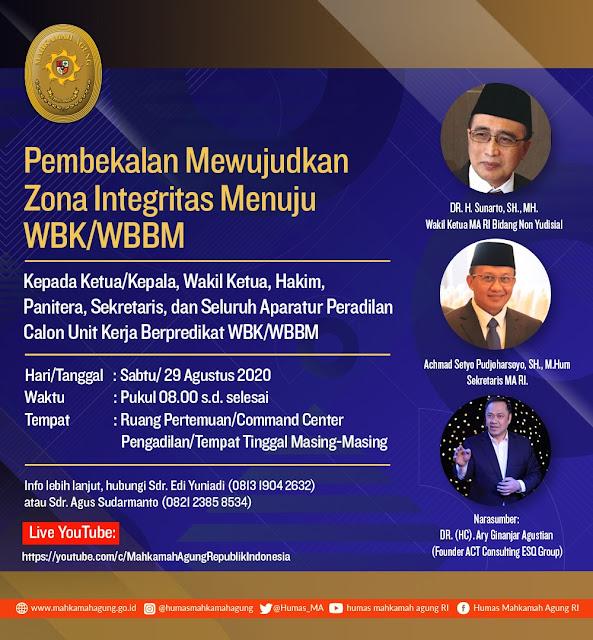 Pembekalan Mewujudkan Zona Integritas Menuju WBK/WBBM