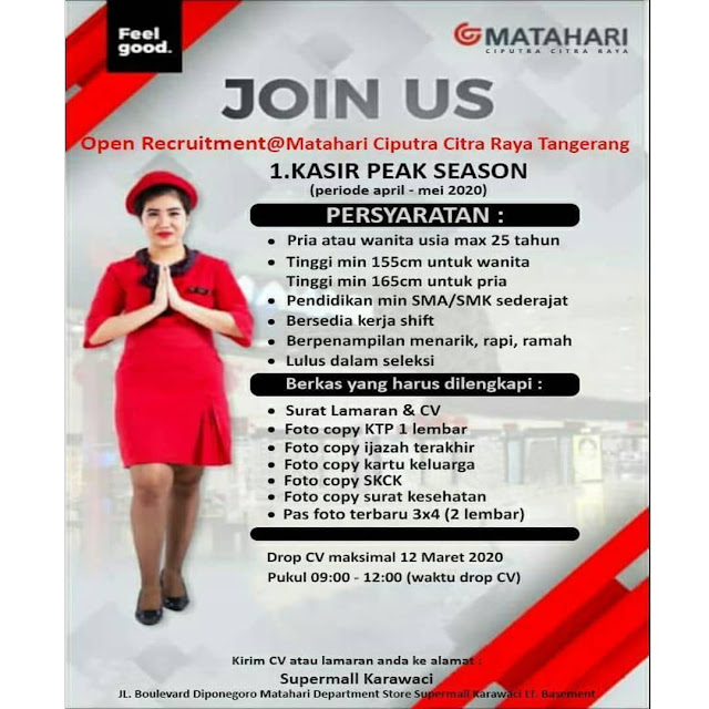 Pt Matahari Department Store Mall Of Serang Serangid