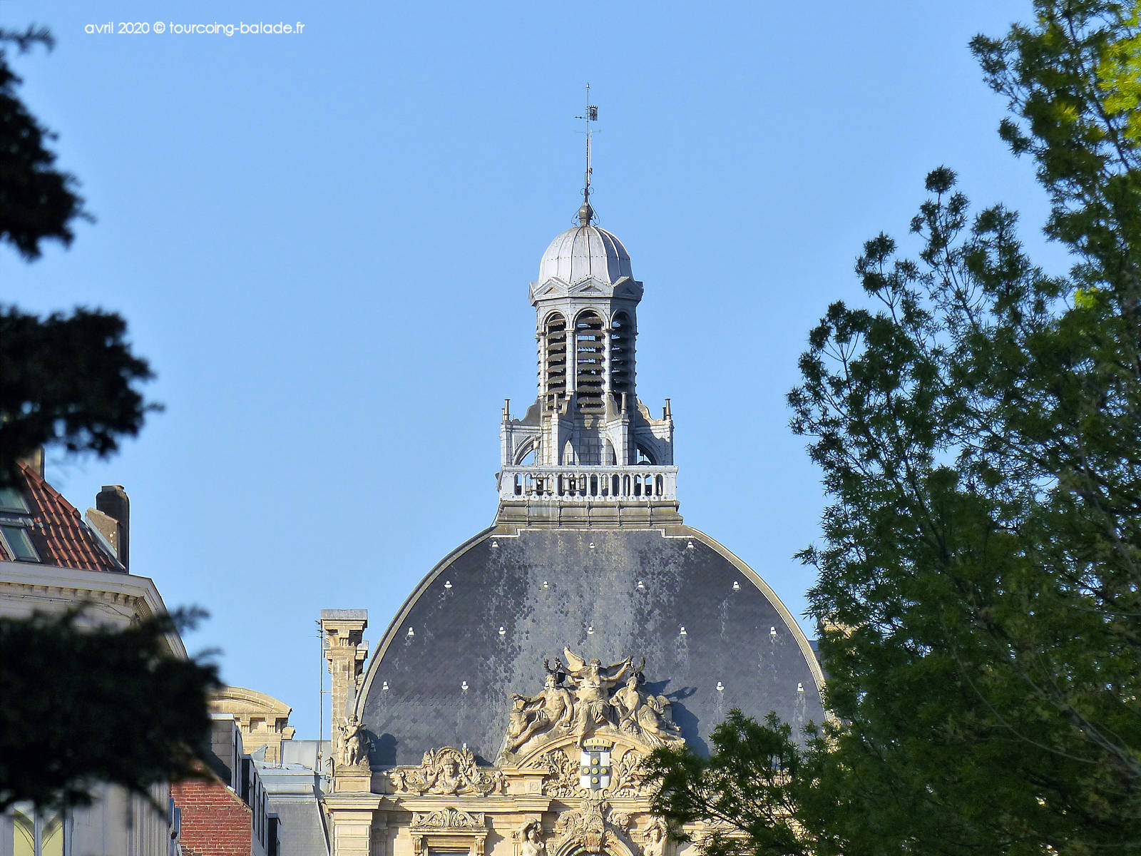 Mairie Tourcoing - Dôme et campanile - 2020