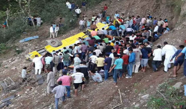 चंबा में बस खाई में गिरी, 8 की मौत, बचाव अभियान जारी