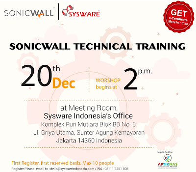 Sonicwall Technical Training 20 Desember 2019