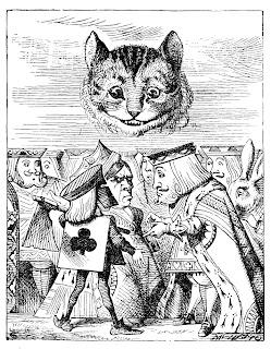 [Mynd: Kóngurinn, drottningin og böðullinn í orðasennu.]
