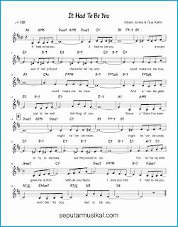chord it had to be you lagu jazz standar