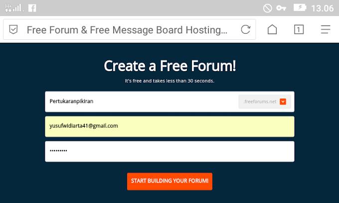 Cara Membuat Forum Internet Gratis