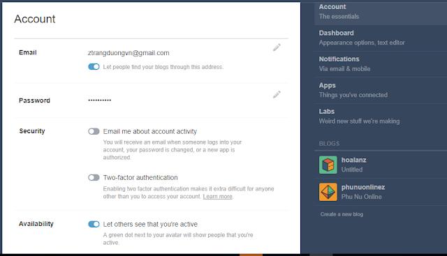 Chọn blog mà bạn muốn đặt backlink, có thể tạo mới nếu chưa có