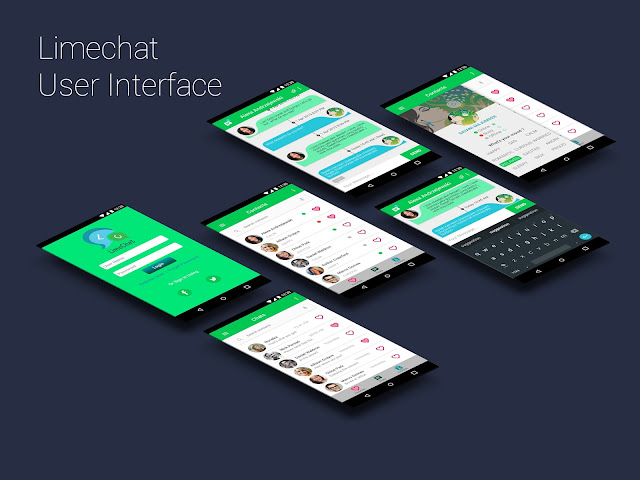 Limechat UI Screens