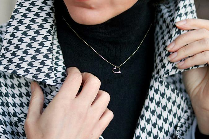 Łańcuszek z wisiorkiem w kształcie serca złoto 585
