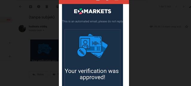 verifikasi approve dari exmarkets