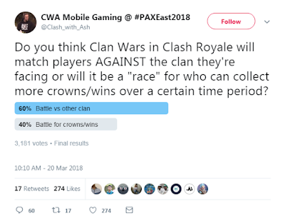 Clash Royale Clan Wars Update 2018