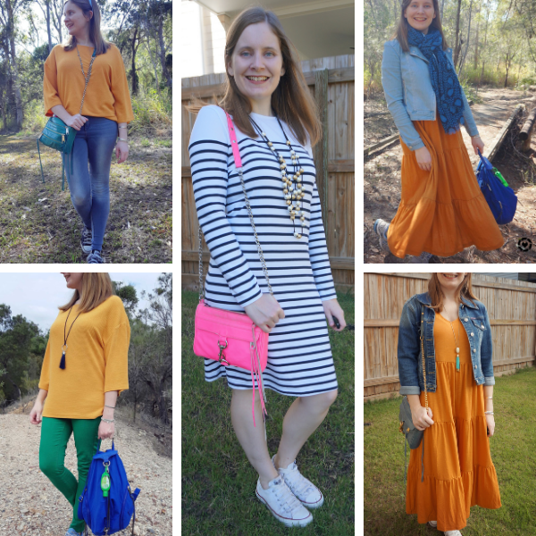 spring wardrobe updates what I bought kmart opshop maber tiered maxi dress dolman marigold top stripe dress | away from blue