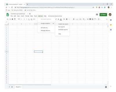 Creating a new Google Analytics report