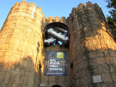 Walls of Avila in The Poble Espanyol