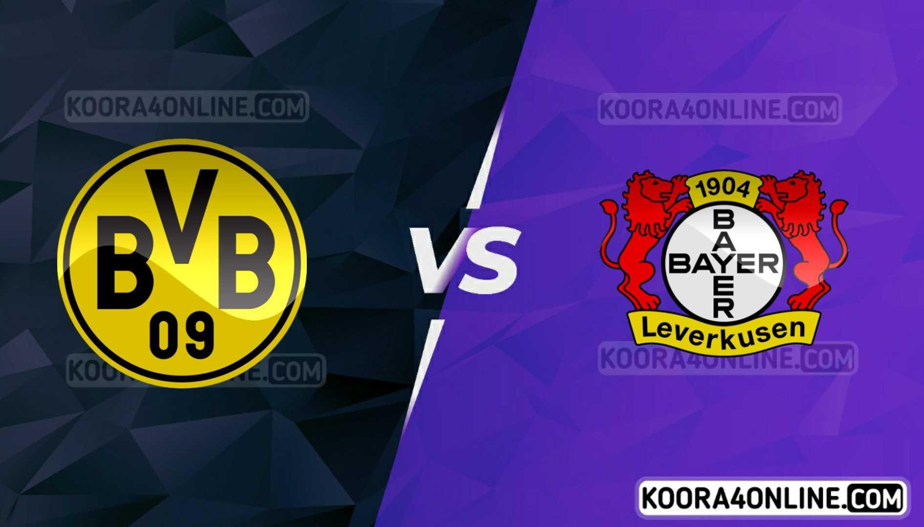 مشاهدة مباراة باير ليفركوزن وبروسيا دورتموند القادمة كورة اون لاين بث مباشر اليوم 11-09-2021 في الدوري الألماني