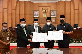 10 Fraksi DPRD Batu Bara Menerima dan Menyetujui Ranperda P APBD 2021