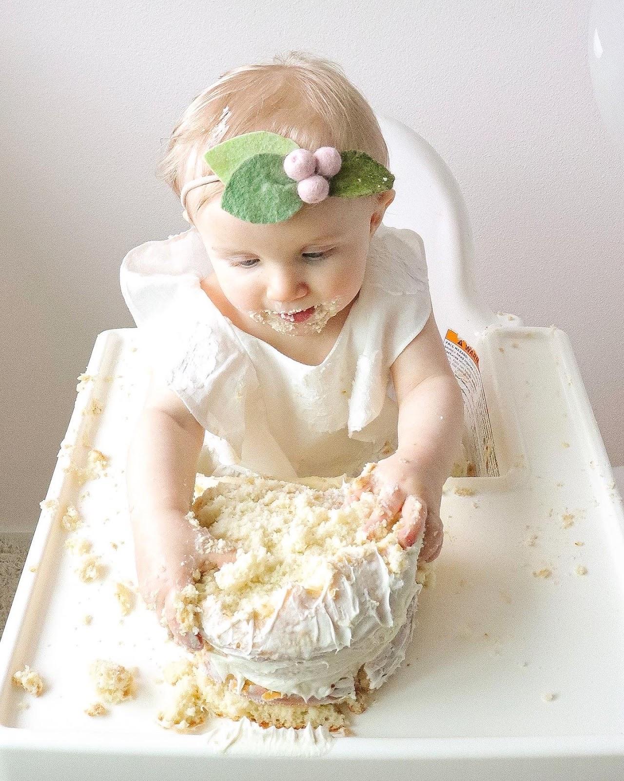 first birthday baby girl berry