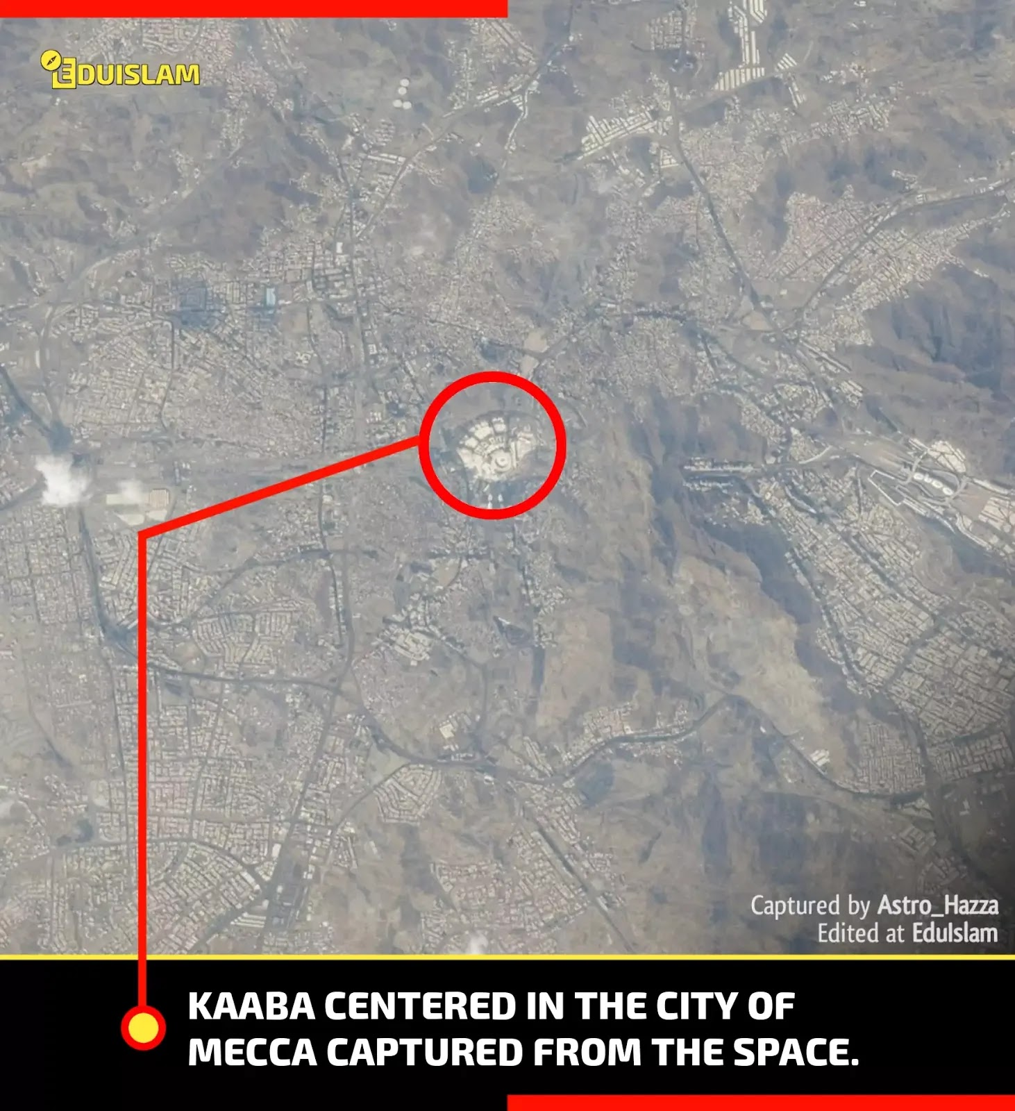 Picture of Kaaba from space