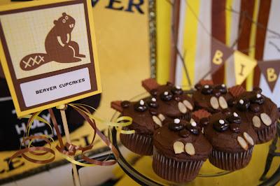 Beaver Party Decor and Snack Ideas @michellepaigeblogs.com