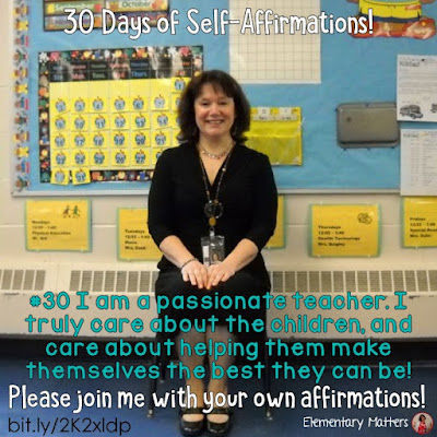 "30 Days of Self-Affirmations: Day 30: I am a passionate teacher! For 30 days, I will be celebrating my own ""new year"" with self-affirmations. If you are interested in joining me, feel free to write your own affirmations here, or respond on my social media here: http://bit.ly/2JuKRWa  Blog Post: http://bit.ly/2K2xldp"