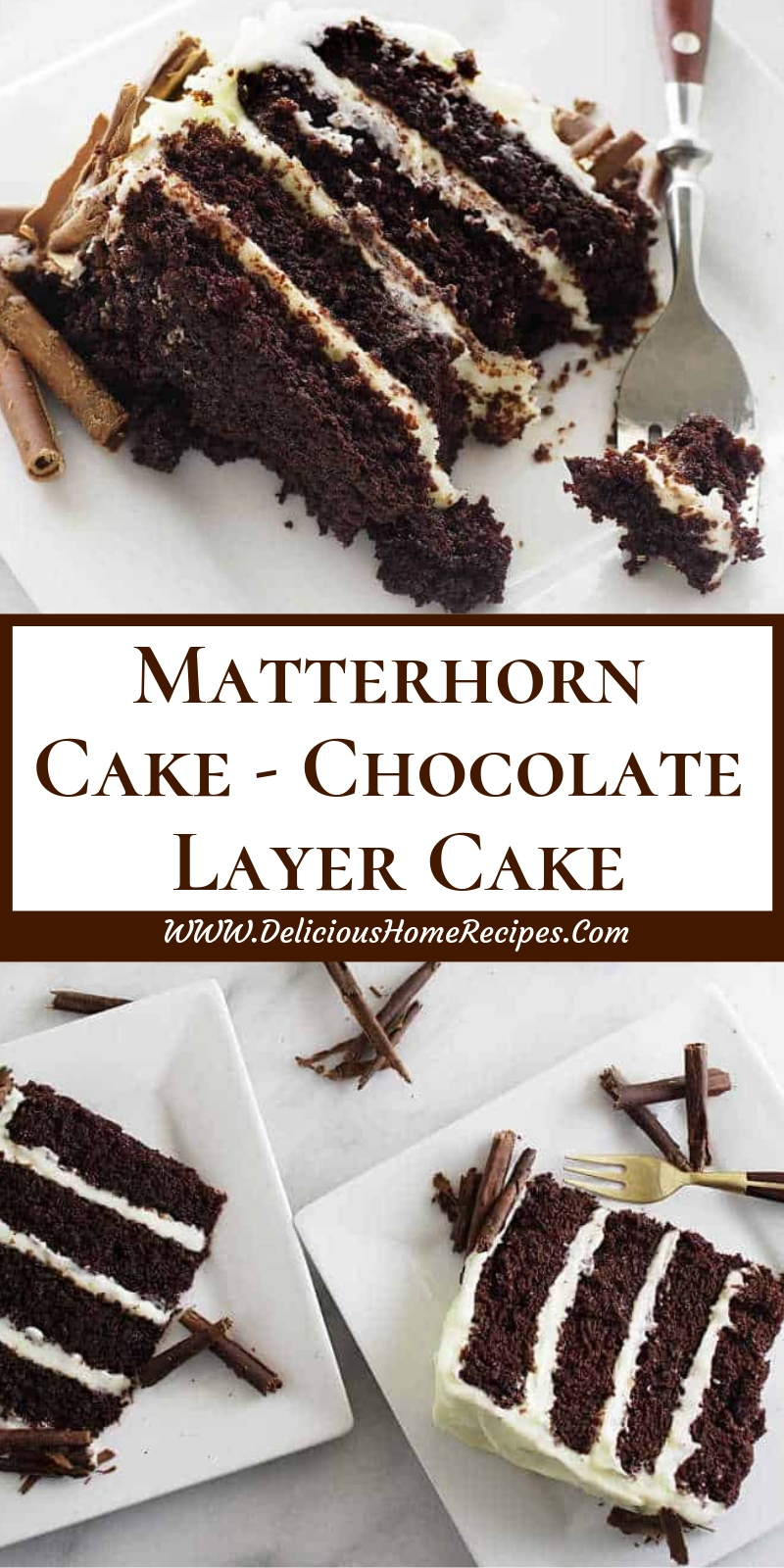Matterhorn Cake - Chocolate Layer Cake