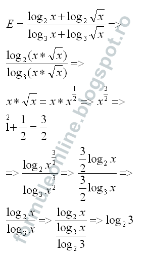 logarithm with fractions